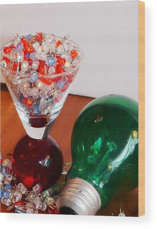 Anthonysr Image Wood Print featuring the photograph It's Not The Size Of The Bulb by Anthony Walker Sr