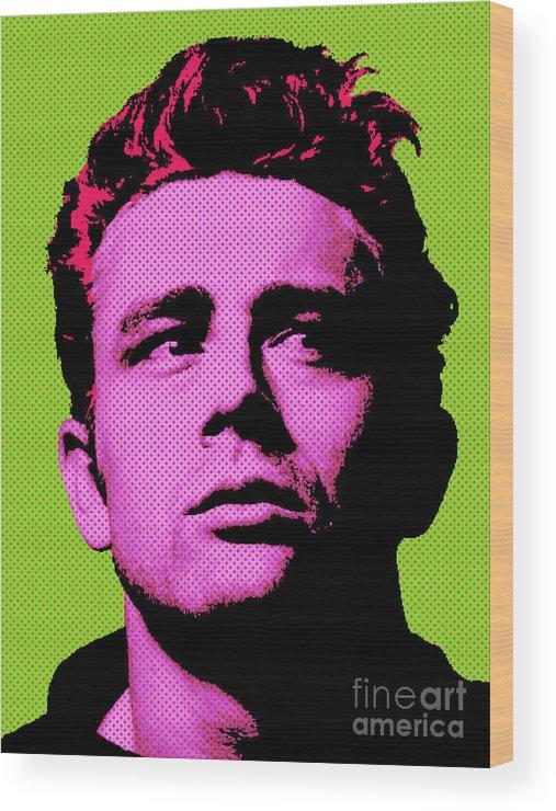 James Dean Wood Print featuring the digital art James Dean 003 by Bobbi Freelance