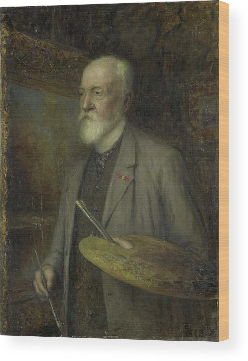 1828 Wood Print featuring the painting Johannes Gijsbert Vogel 1828-1915 by Litz Collection