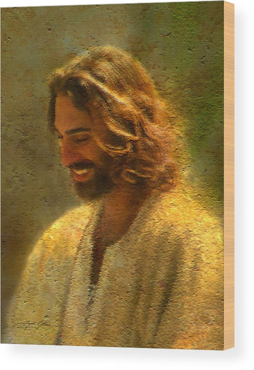 Jesus Wood Print featuring the painting Joy Of The Lord by Greg Olsen