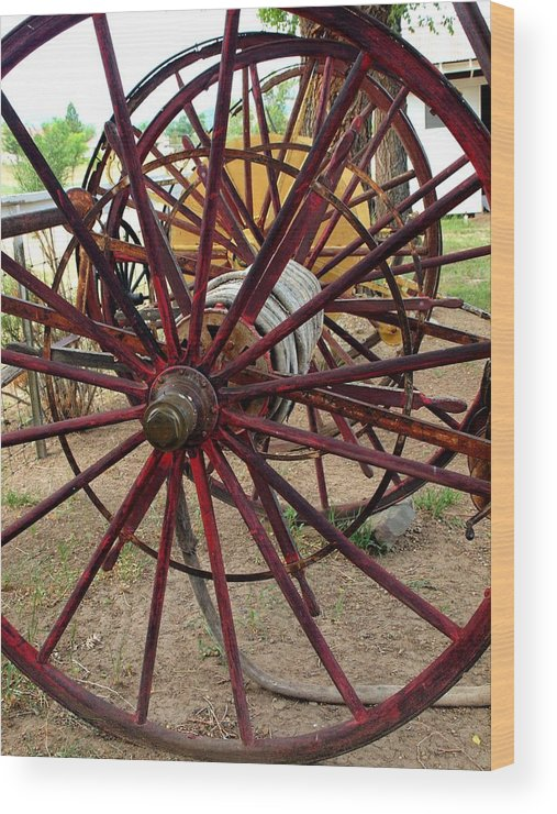 Wheels Wood Print featuring the photograph Keeps On Rolling Along by Irma BACKELANT GALLERIES