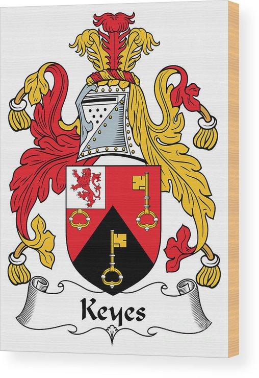 Keyes Wood Print featuring the digital art Keyes Coat Of Arms Irish by Heraldry