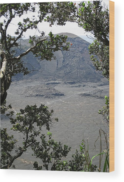 Craters Wood Print featuring the photograph Kilauea Iki Crater - Big Island by Daniel Hagerman