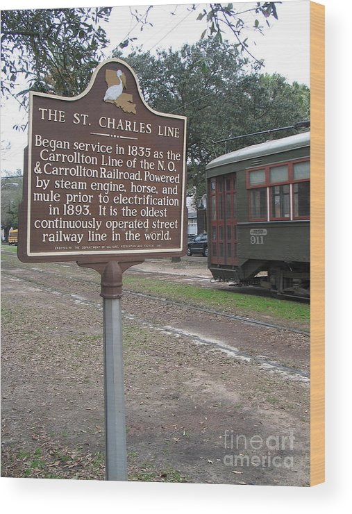 St. Charles Line Wood Print featuring the photograph La-006 The St. Charles Line by Jason O Watson
