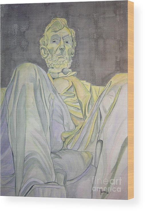 Presidents Wood Print featuring the painting Lincoln by Regan J Smith