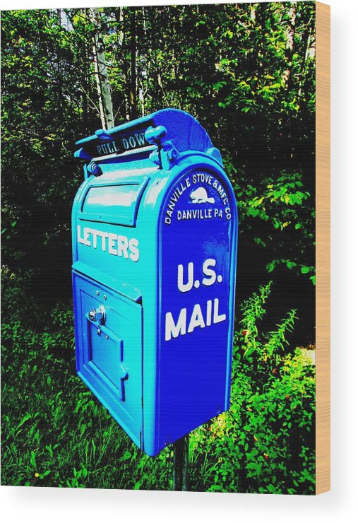 mail Box Wood Print featuring the photograph Mail Box by Will Boutin Photos