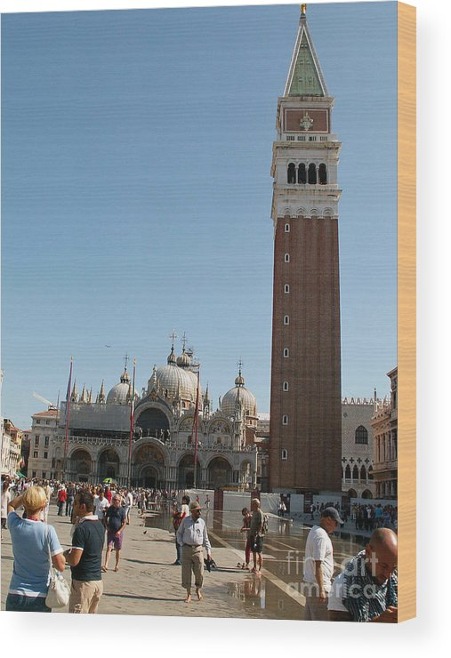 Italy Wood Print featuring the photograph Main Square In Venice by Evgeny Pisarev