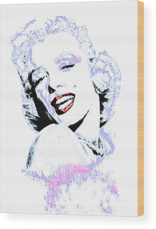 Wingsdomain Wood Print featuring the photograph Marilyn Monroe 20130331 by Wingsdomain Art and Photography