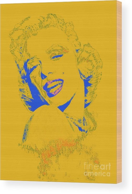 Marilyn Wood Print featuring the photograph Marilyn Monroe 20130331v2 by Wingsdomain Art and Photography