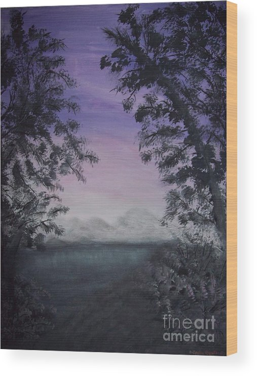 Sunsets Wood Print featuring the painting Minnesota Sunset by Dawn Randle