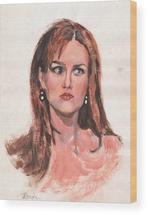 Acrylic Wood Print featuring the painting Mona Lisa De Prisa by Horacio Prada