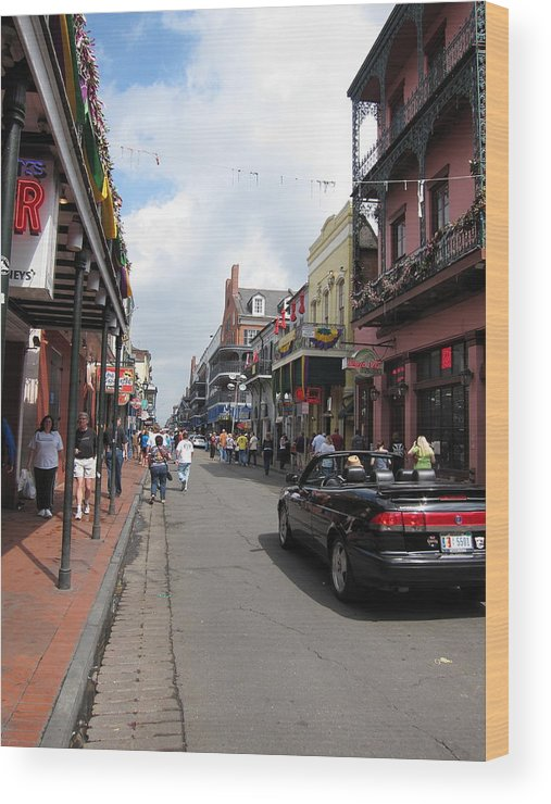New Wood Print featuring the photograph New Orleans - Seen On The Streets - 12122 by DC Photographer