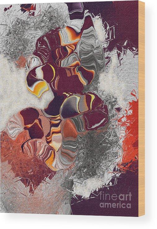 Wood Print featuring the digital art No. 635 by John Grieder
