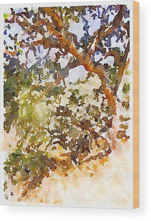 Waterlogue Wood Print featuring the digital art Oak by Shannon Grissom