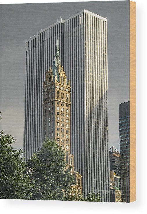 Wood Print featuring the photograph Old And New Nyc by Zbigniew Krol