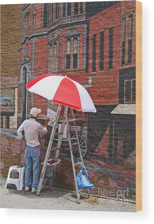 Artist Wood Print featuring the photograph Painting The Past by Ann Horn