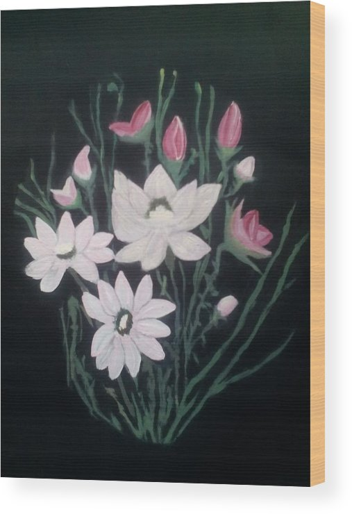 Bouquets Wood Print featuring the painting Pink Bouquet by Dawn Randle