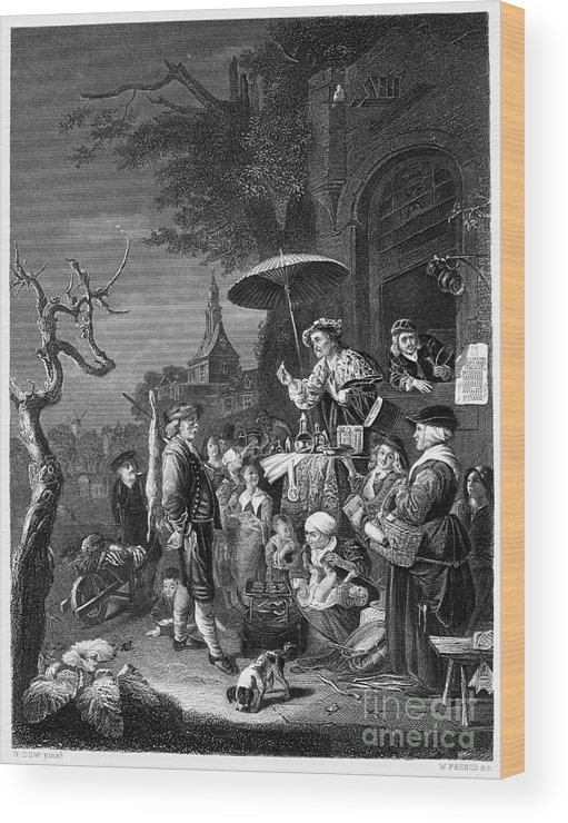 19th Century Wood Print featuring the photograph Quack Doctor, 19th Century by Granger