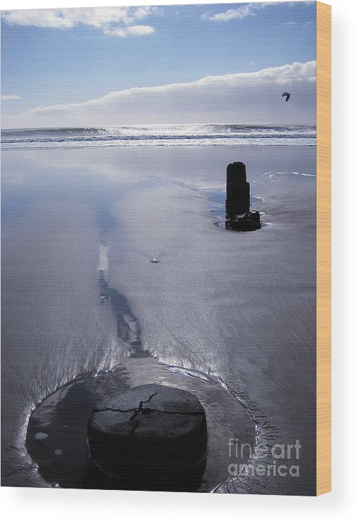 Seascape Wood Print featuring the photograph Serenity 2 by Theresa Ramos-DuVon