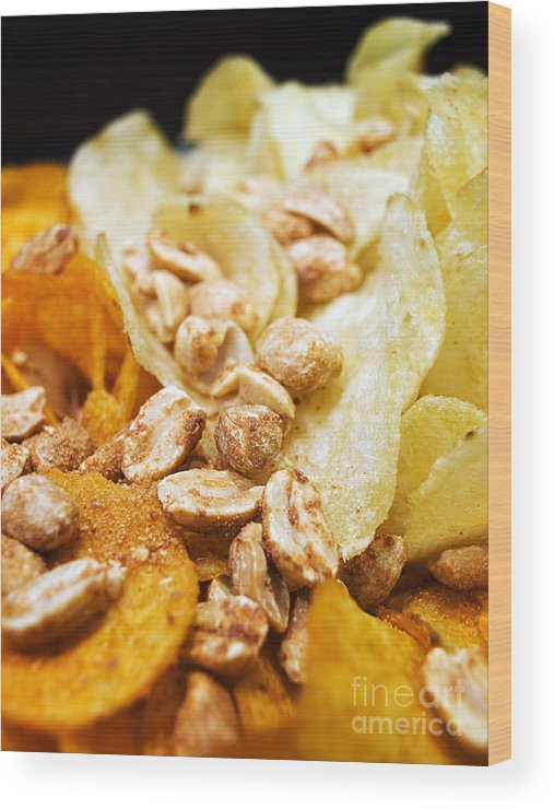Snacked Wood Print featuring the photograph Snacks by Sinisa Botas