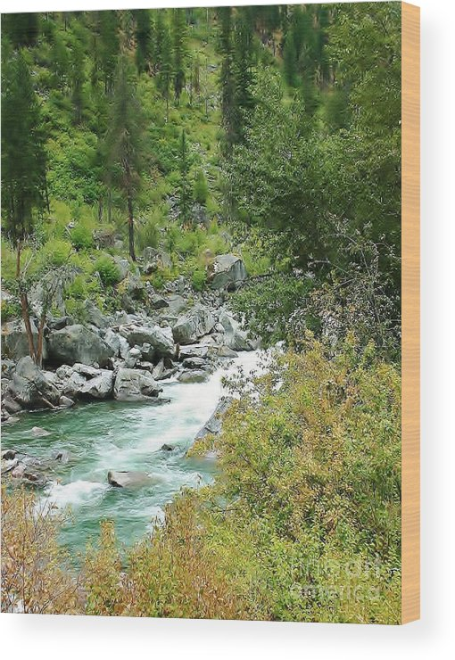River Wood Print featuring the photograph Snoqualmie River by Craig Wood