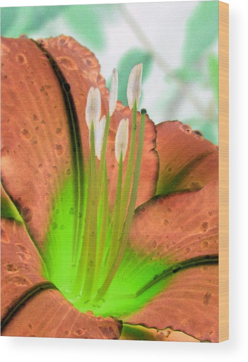 Flower Wood Print featuring the photograph Stigma - Photopower 1002 by Pamela Critchlow