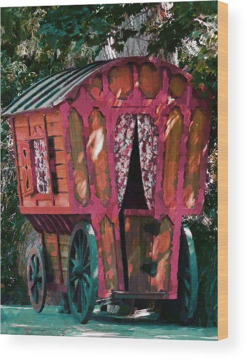 Caravn Wood Print featuring the photograph The Gypsy Caravan by Steve Taylor
