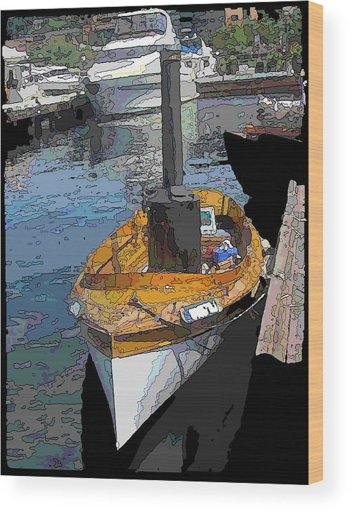 Steam Wood Print featuring the digital art The Little Steamboat That Could by Tim Allen