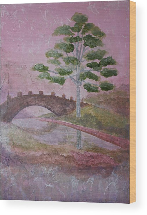 Tree Wood Print featuring the painting The Silver Tree by Catherine Sprague