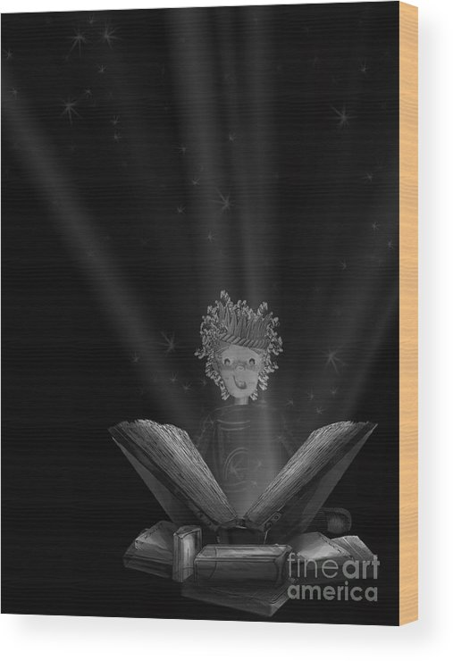 Reading Wood Print featuring the digital art The Wonders Of Reading by Leigha Sherman