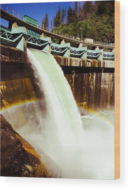 California Wood Print featuring the photograph Tiger Creek Dam by Dan Julien