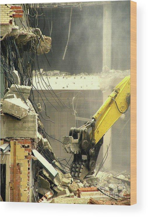 Heavy Wrecking Equipment Print Wood Print featuring the photograph Tyrannosaurus Wrecks by Joe Jake Pratt