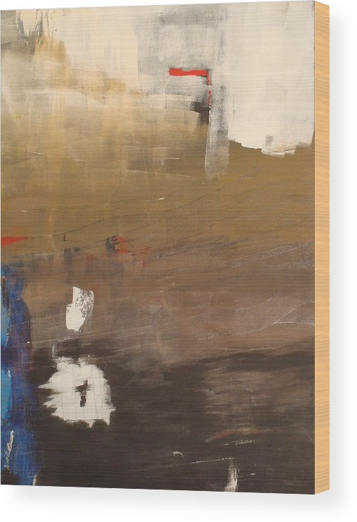 Abstract Wood Print featuring the painting Untitled by Etel Canalis