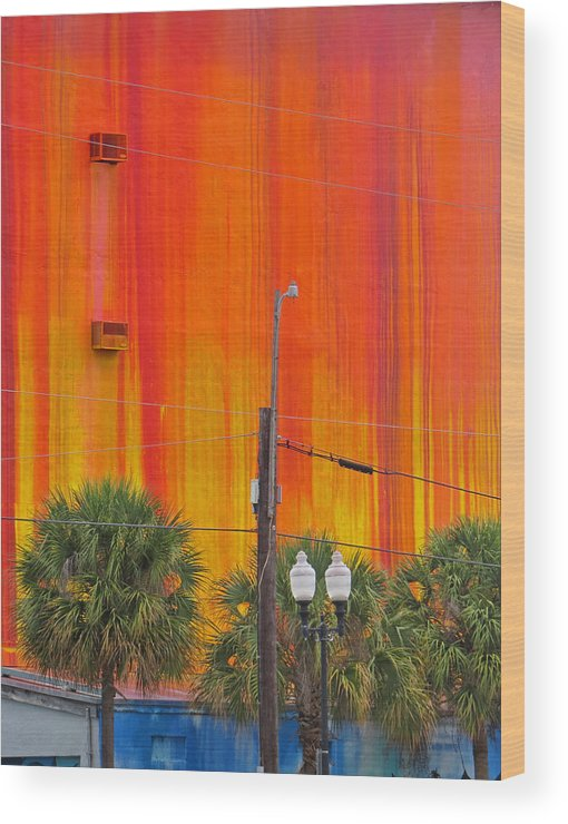 Miami Wood Print featuring the photograph Urban Burn by Dart and Suze Humeston