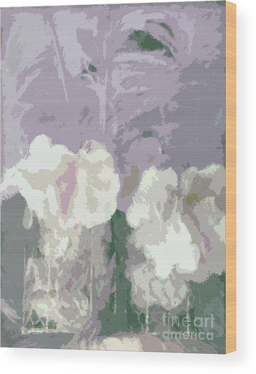 Susan Lipschutz Wood Print featuring the digital art Vintage Colors by Susan Lipschutz