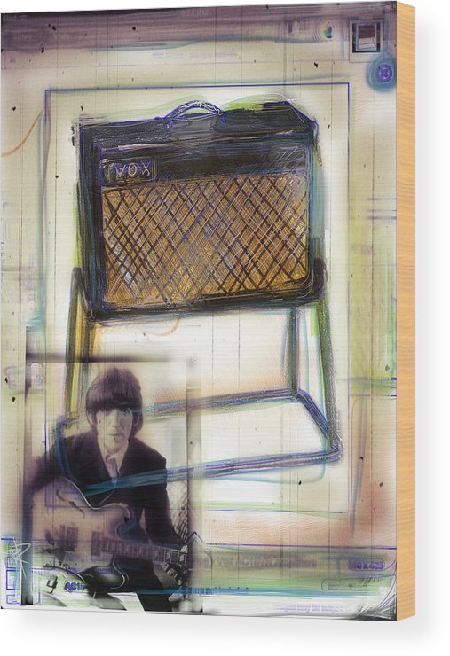 Vox Wood Print featuring the mixed media Vox And George by Russell Pierce