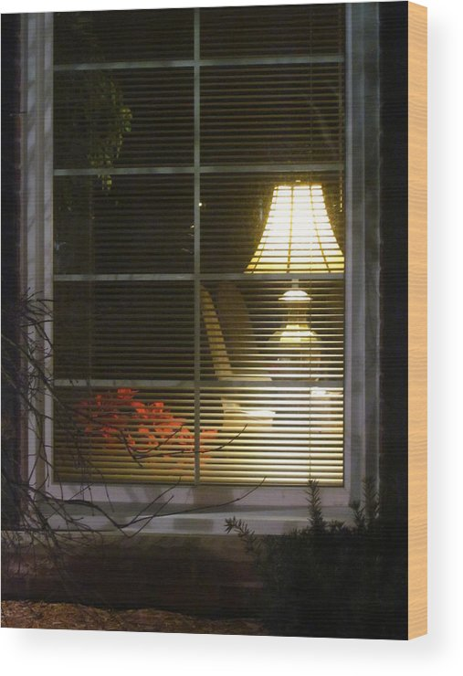 Guy Ricketts Photography Wood Print featuring the photograph Waiting At The Window by Guy Ricketts