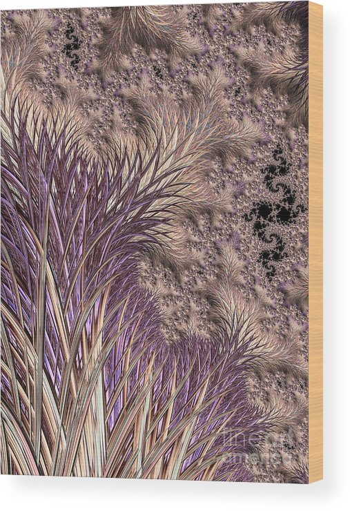Background Wood Print featuring the digital art Wild Grasses Blowing In The Breeze by Heidi Smith