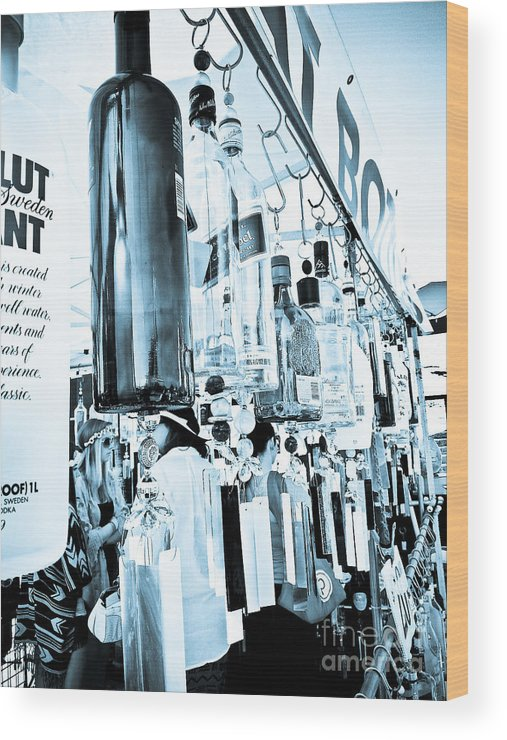Urban Wood Print featuring the photograph Wind Chime by Fei A