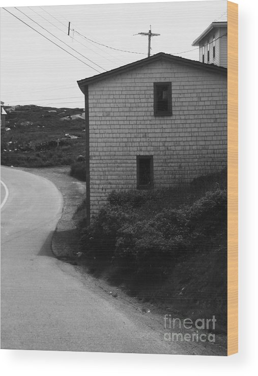 Black And White Wood Print featuring the photograph Winding Road by Kiana Carr
