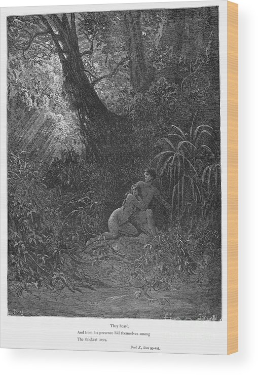 19th Century Wood Print featuring the photograph Milton: Paradise Lost by Granger