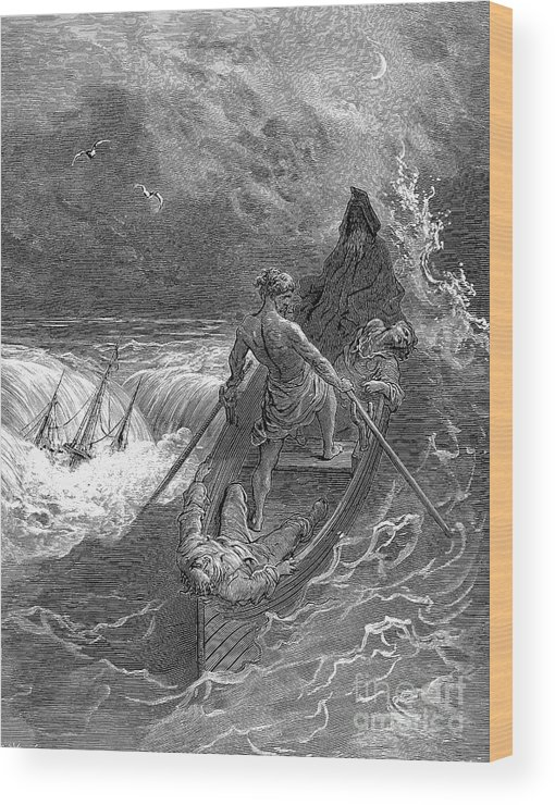 19th Century Wood Print featuring the photograph Coleridge: Ancient Mariner by Granger