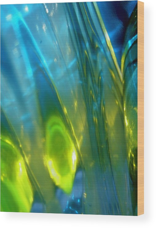 Blue Wood Print featuring the photograph Abstract 3269 by Stephanie Moore