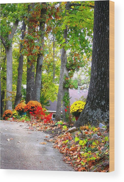 Fall Wood Print featuring the photograph Autumn by Esther Luna