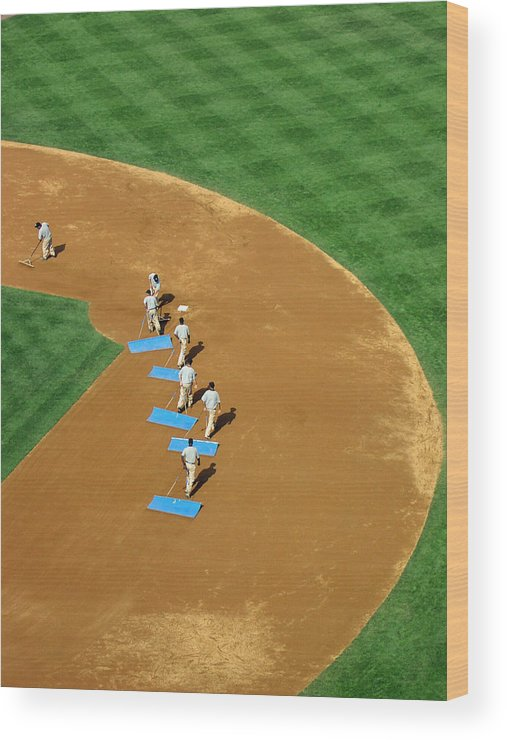 Sports Wood Print featuring the photograph Between Innings by Mike Martin