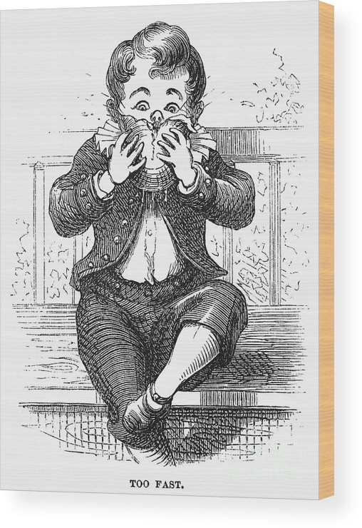 1876 Wood Print featuring the photograph Boy Eating by Granger