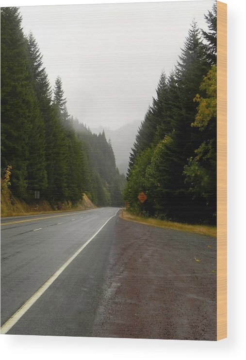 Pass Wood Print featuring the photograph Driving The Pass by Linda Hutchins