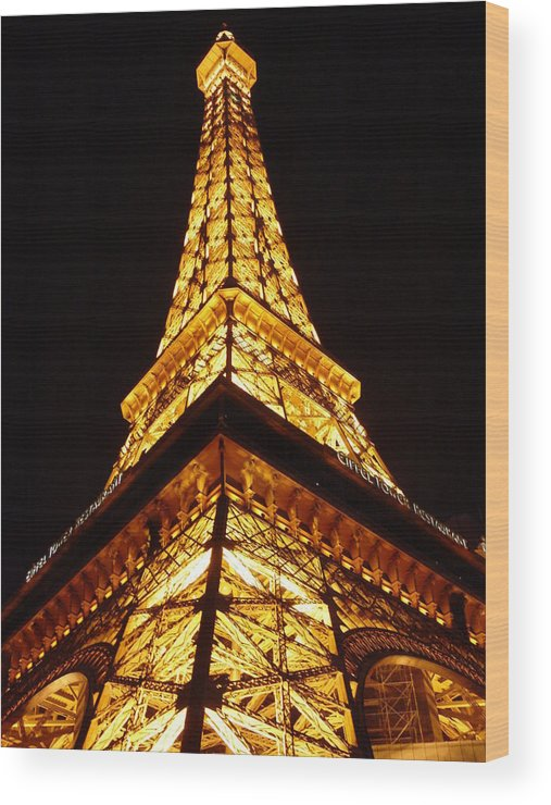 Eiffel Tower Wood Print featuring the photograph Eiffel Tower Las Vegas by Dominic Olivares
