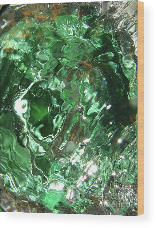 Green Wood Print featuring the photograph Green Eddy I by Mark Holbrook