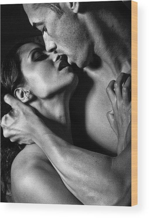 Beautiful Wood Print featuring the photograph Kiss Me by Matusciac Alexandru